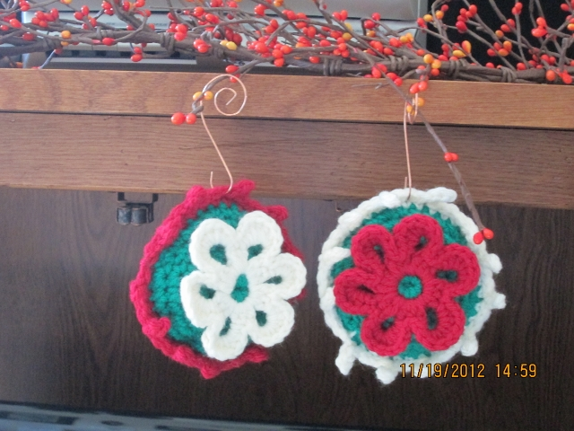 Green Stuffed Ornaments