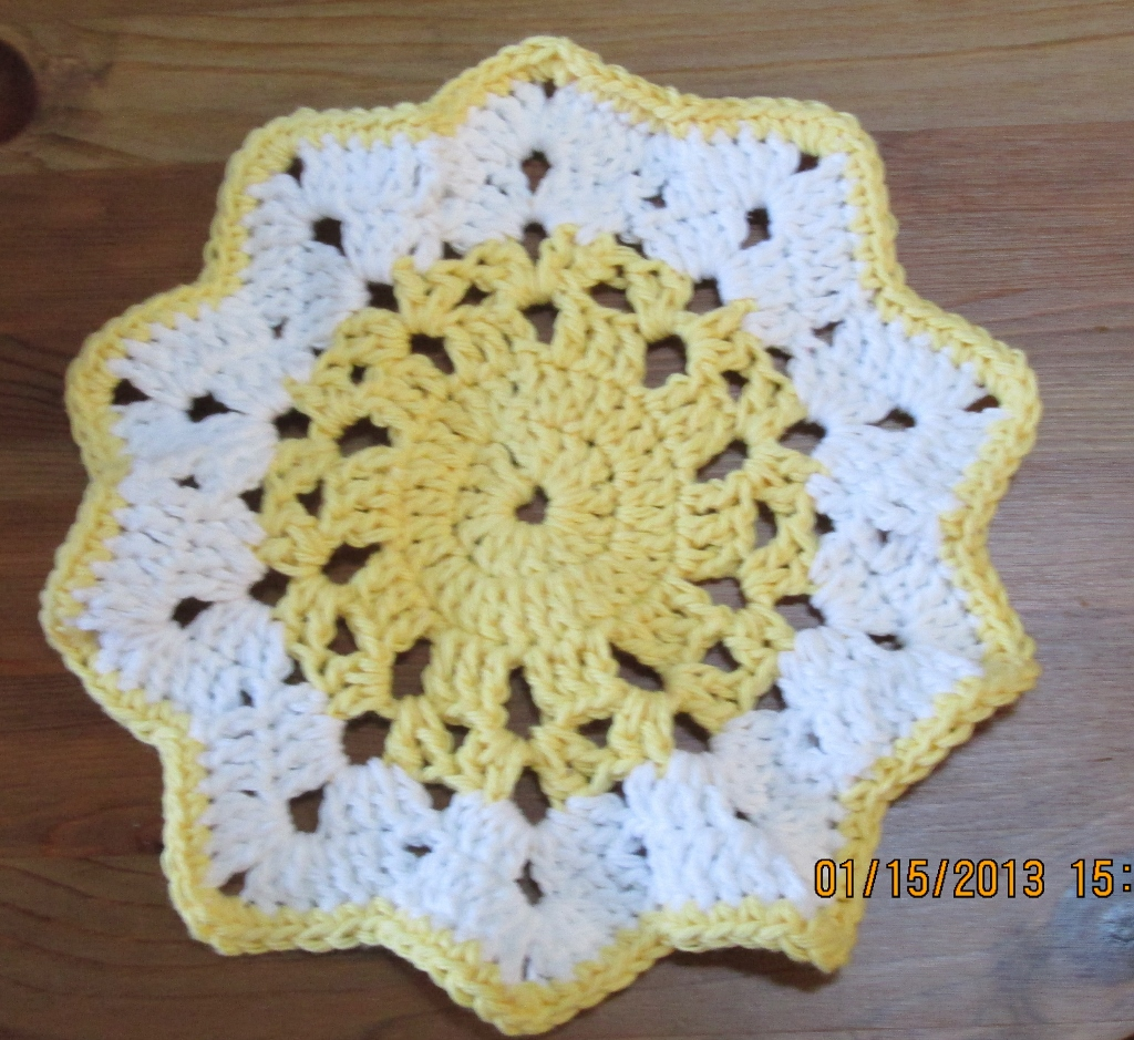 Irish Rose Dishcloth